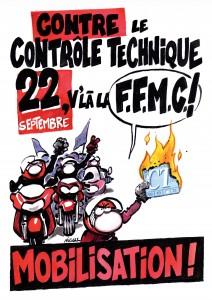 Affiche Manifestation contre le CT Moto FFMC